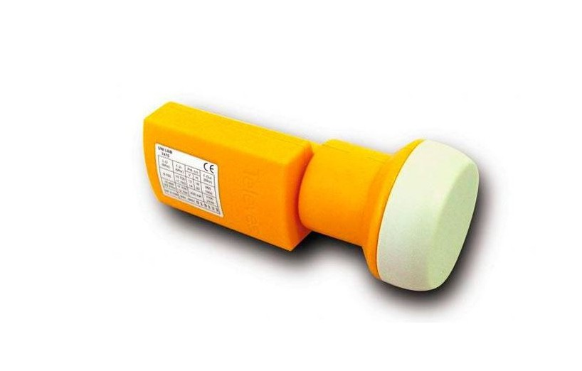 CONVERSOR UNIVERSAL LNB SINGLE 0,3DB NARANJA TELEVES 7475
