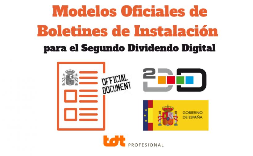 Modelos Oficiales de Boletines de Instalación