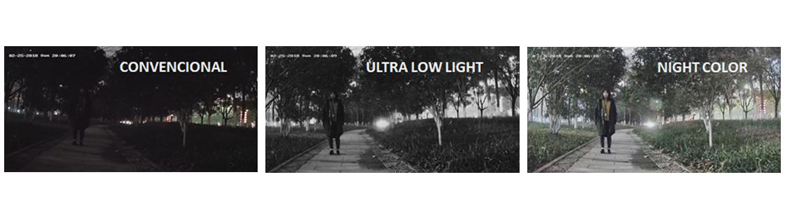Diferencias entre Cámaras Night Color Domo , convencionales y Ultra Low Light