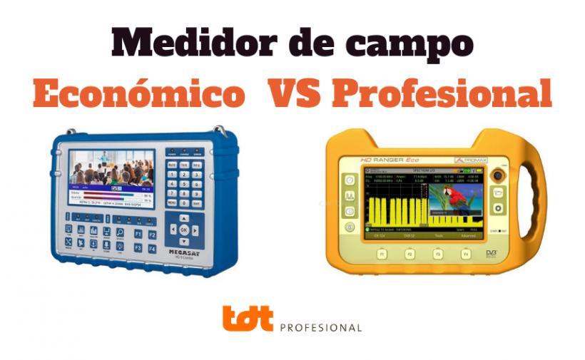 Diferencias entre Medidor de campo Económico y Profesional
