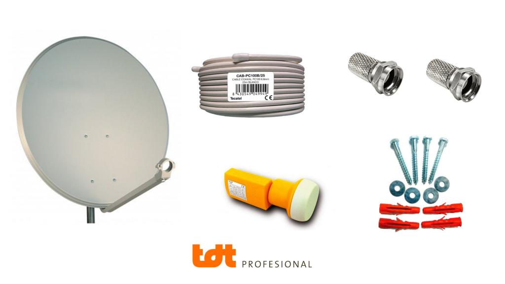 Materias para orientar tu antena parabólica a los satélites Astra 23.5º y Astra 19.2º