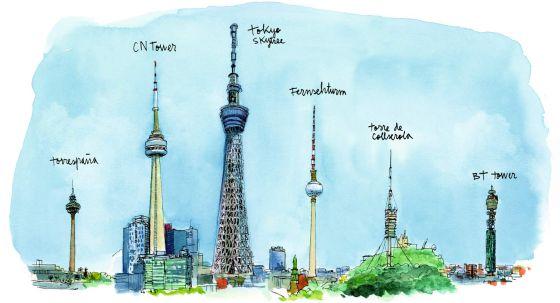 Diferentes Torre de Telecomunicaciones en el mundo