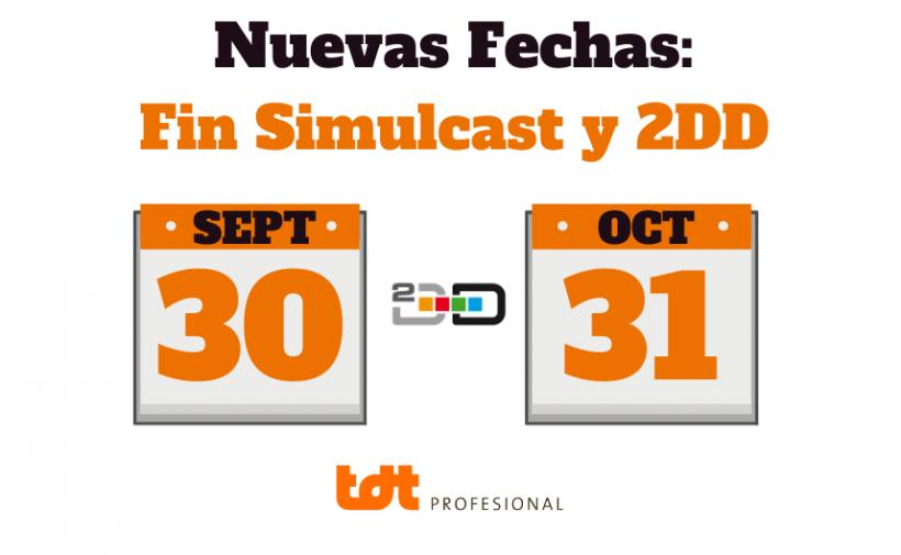 Nuevas fechas fin dividendo digital y simulcast