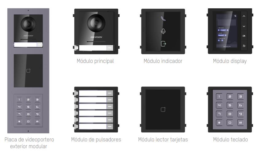 Placas de calle exterior Videoportero IP Hikvision