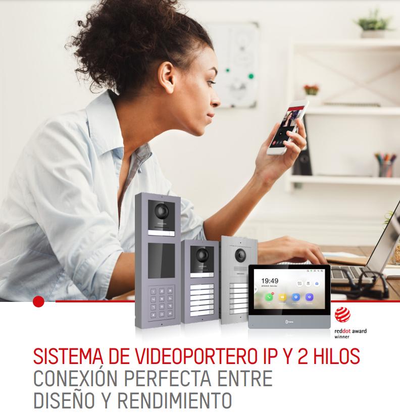 kit videoportero IP y 2 hilos de hikvision