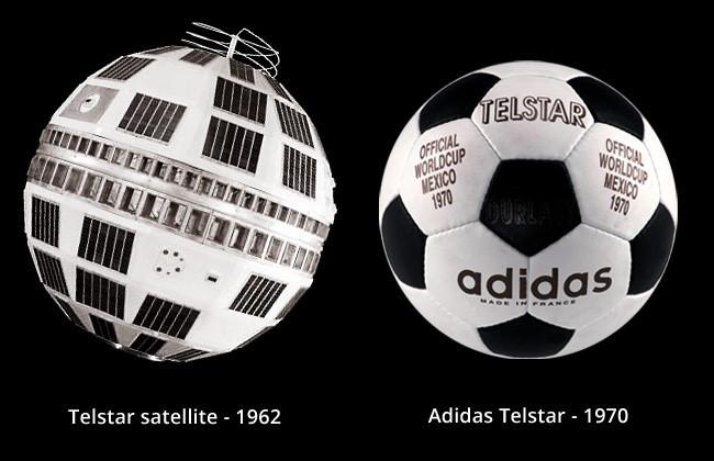 El balón icónico de Adidas es un homenaje al satélite Telstar