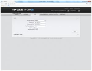 Pestaña Red TP-Link CPE510