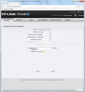 Configuración Configuración TP-Link CPE510