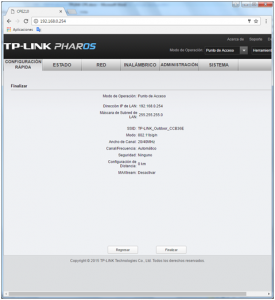 Resumen Configuración Configuración TP-Link CPE510