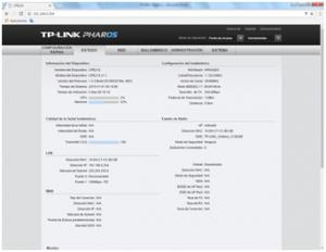 Pestaña Estado TP-Link CPE510