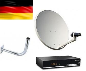 Kit de parabólica de 60 y receptor satélite Strong para ver canales alemanes