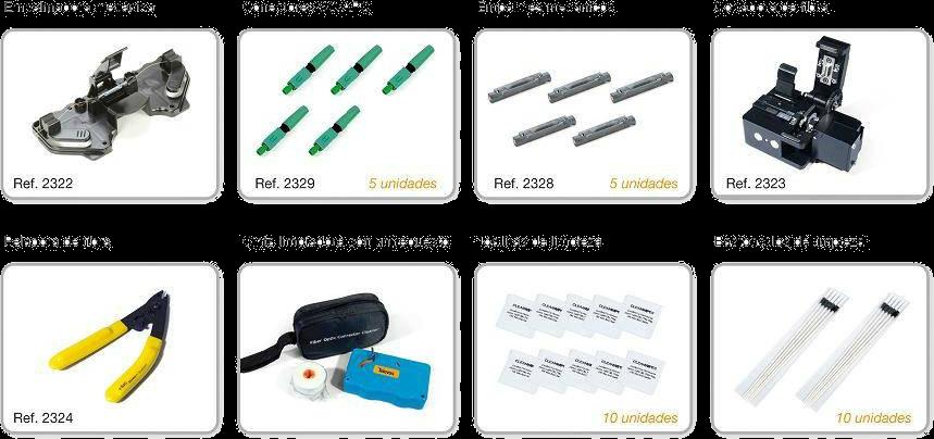 Material necesario para ser instalador tipo F KIT DE CONECTORIZACIÓN Y EMPALME MÉCANICO DE TELEVES