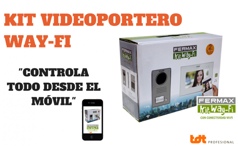 Kit videoportero way-fi de Fermax