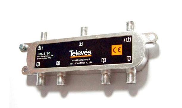 PAU repartidos de señal de TDT & SAT de Televes