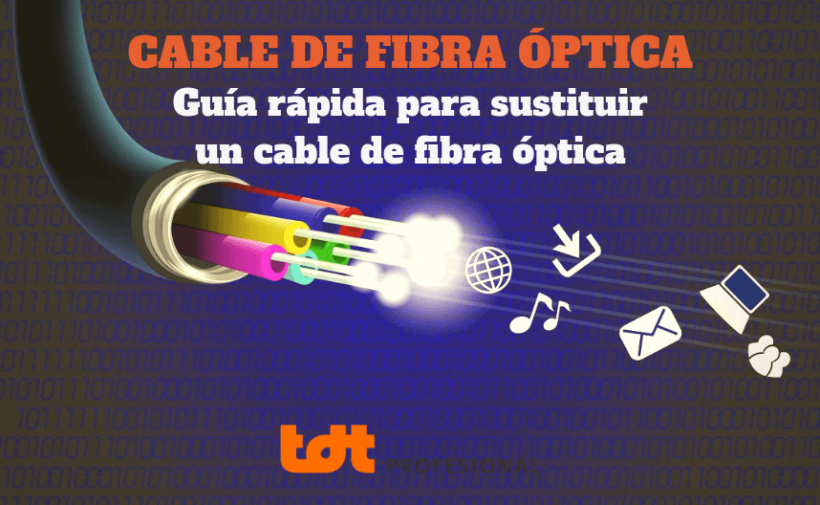Sustitución del cable de fibra óptica