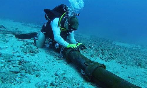 Cable coaxial de exterior submarino