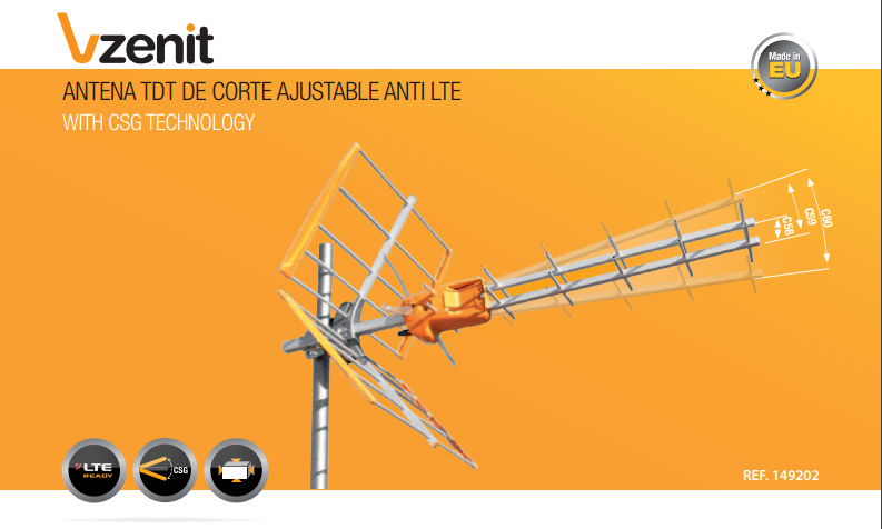 Comprar Antena TDT VZenit de Televes en TDTprofesional