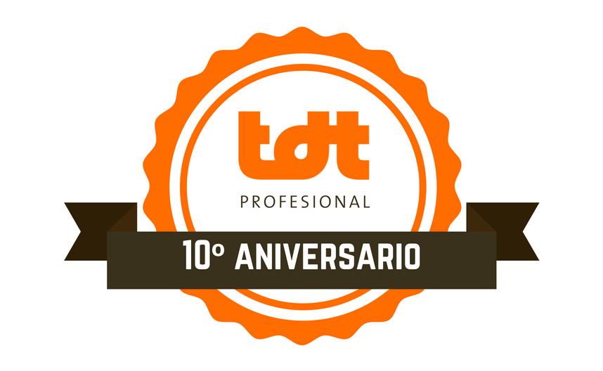 Logo TDTprofesional aniversario