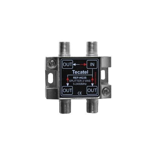 DTT-SAT 3 way Splitter 8dB Tecatel