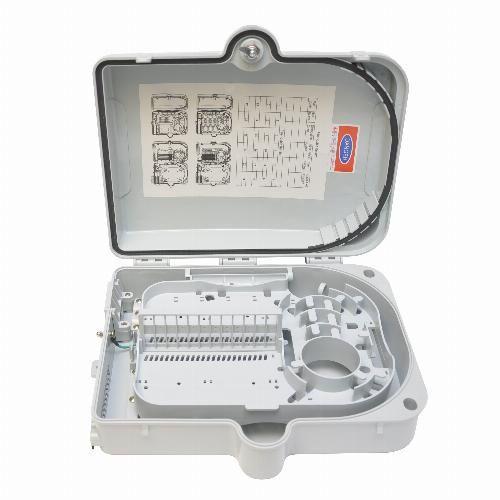 Caja de distribución Fibra Óptica 24 SC FTTH FO-080010 Tecatel