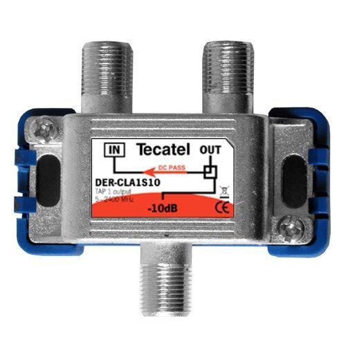 Derivador TDT-SAT 1 Salida F 10dB Tecatel DER-CLA1S10