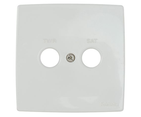 White Faceplate Televes 5440 TV/R-SAT