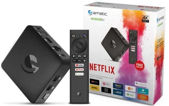 Receptor OTT 4K Android TV Box Strong SRT 202 Ematic