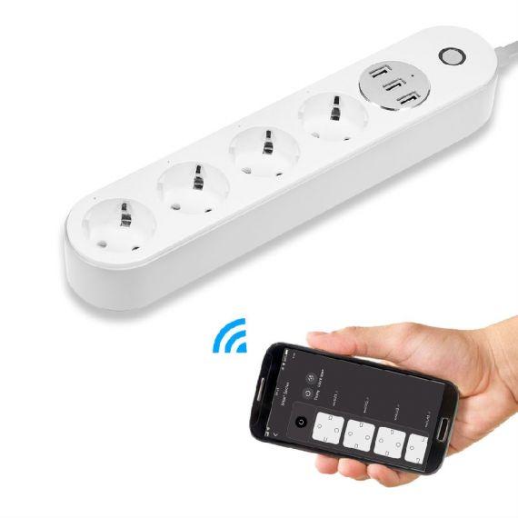 Smart WIFI plug 4X1 + 3USB Daxis EL0052