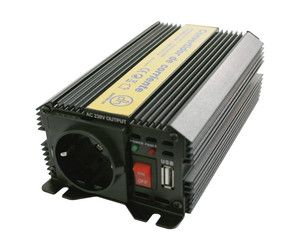 Inversor Corriente 12VDC - 230VAC 300W 1 Schuko + USB