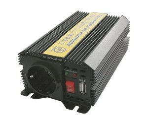 Inversor Corriente 12VDC - 230VAC 600W 1 Schuko + USB