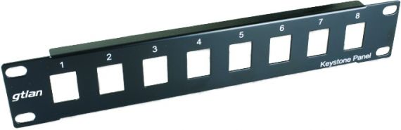 """10"""" empty panel for 8 RJ45 50P8V connectors by GTlan"""