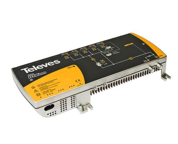 Central amplificadora DTKOM MATV 5 entradas : UHF-BV-BIV-BIII-BI/FM TEL5341 de Televes