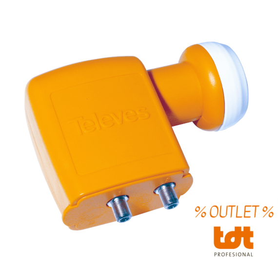 LNB Twin Televes 0.3dB Converter OUTLET