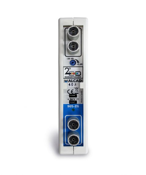 Amplificador Monocanal 50dB UHF Adyacente Alcad ZG-421