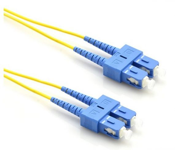 Fiber Optic Patch Cord with Duplex SC/UPC Connector