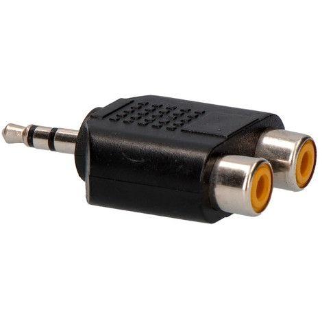 Adaptador Jack 3.5mm a 2 RCA ADAJACK2RCA
