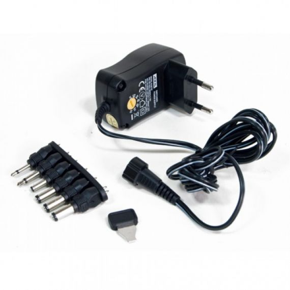 Power Supply with Voltage Selector (3-12V) 600mA Axil