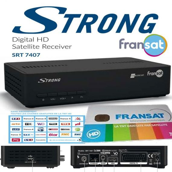 FRANSAT Strong SRT 7407 Eutelsat 5W Satellite Receiver