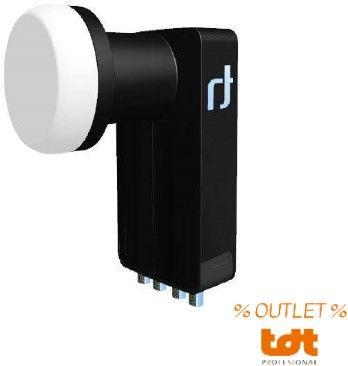 OUTLET: Conversor LNB QUATTRO BLACK ULTRA 0,2DB de 4 salidas Inverto