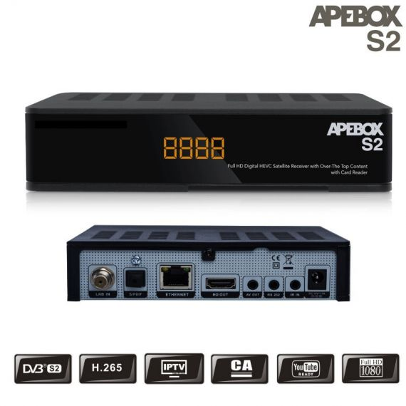 Receptor Satélite IPTV APEBOX S2 Full HD H.265 HEVC