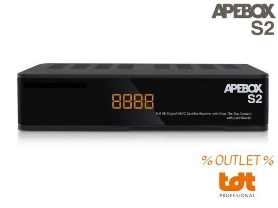 Receptor Satélite IPTV APEBOX S2 (CA) OUTLET