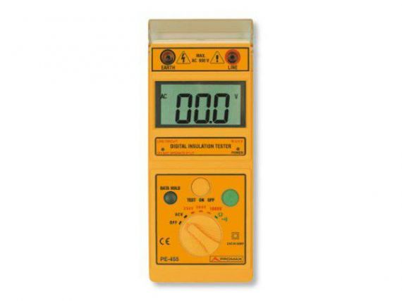 Insulation meter view PE-455 from Promax