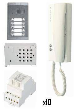 Kit de portero electrónico 10 viviendas Amplyvox