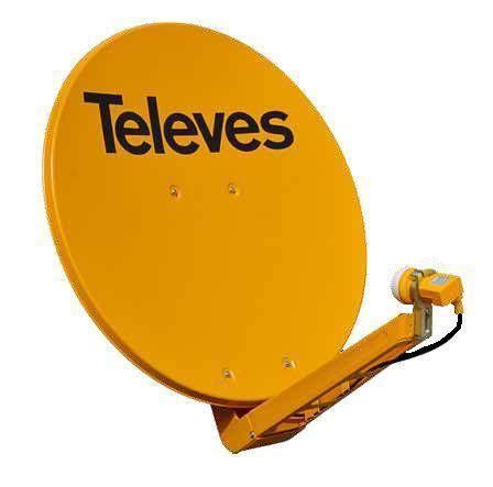Offset Dish 95cm aluminum HQ HIGH QUALITY Orange Televes 7903