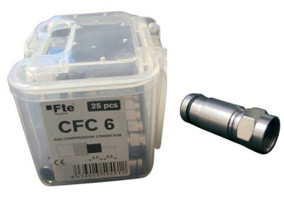 Compression F Connector Cable 6.8mm 25 units