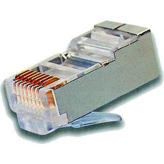Conector RJ-45 categoria 6e apantallado macho