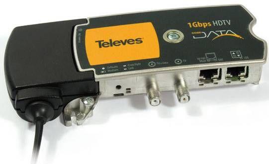 Coaxdata Híbrido 1Gbps HDTV con 2 salidas Ethernet