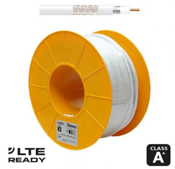 Cable coaxial televes triple blindaje