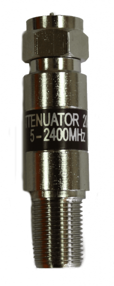 Fixed attenuator 5-2150 Mhz with loss of 20dB