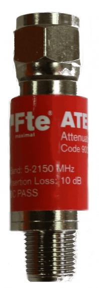 Atenuador fijo 10 dB 5-2400 MHz